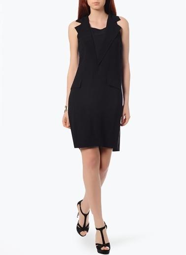 Cotton Bar Kolsuz Ceket Elbise Siyah